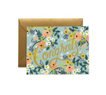 Blue Meadow Congrats Card|Z