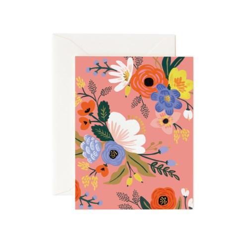 Lively Floral Pink Card Z