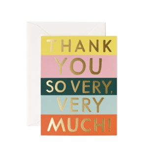Color Block Thank You Card|Z