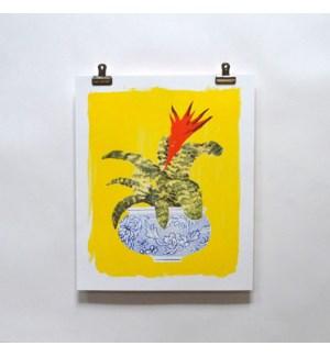 Riso Print - Bromeliad