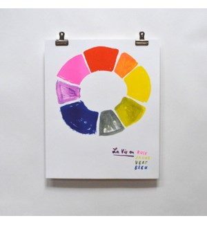 Riso Print - La Vie en Rose (Color Wheel)