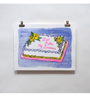 Riso Print - Cake Get Out of My Dreams