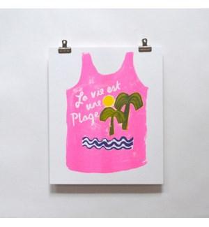 Riso Print - Life's a Beach Tank
