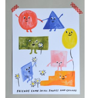 Riso Print - Friends of All Shapes