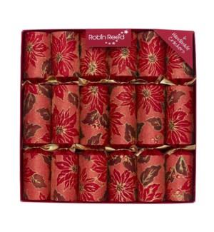 """Red Poinsettia Sparkle - 6 x 12"""""""