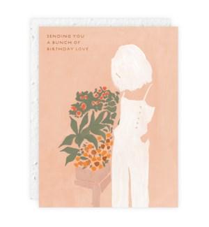 Girl And Flowers|Seedlings