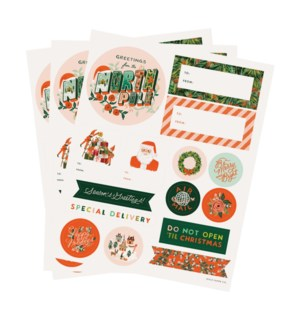 Pack of 3 Season's Greetings Stickers & Labels