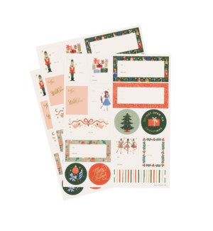 Pack of 3 Nutcracker Stickers & Labels