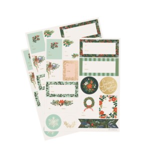 Pack of 3 Winter Floral Stickers & Labels