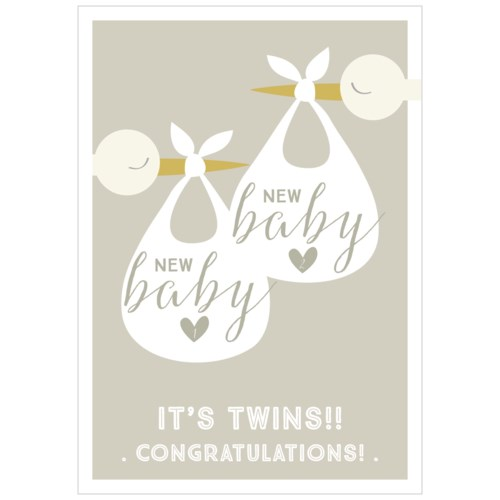 New Baby Storks Twins|Think of Me Designs