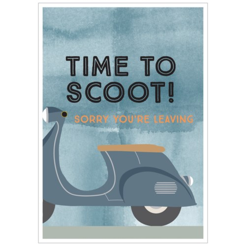 Time To Scoot 5x7|Think of Me