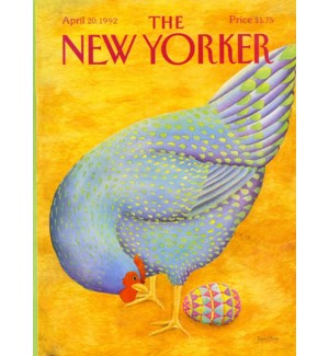 Hen Lays Easter Egg|New Yorker