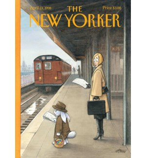 Commuter Easter Bunny|New Yorker