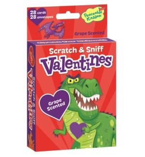 Wacky Dinosaurs Scratch & Sniff Valentine