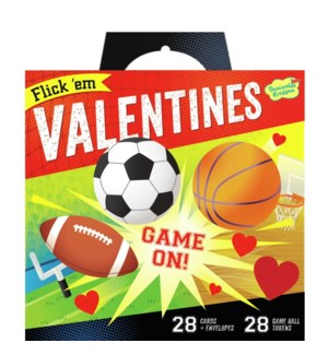 Flick 'Em Sports Super Valentine