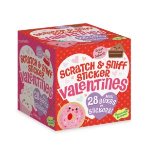 Treats Scratch & Sniff Sticker Valentine Box Assorted