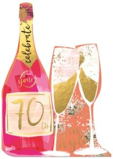 Champagne Bottle   5  X 7 | Winged Hat