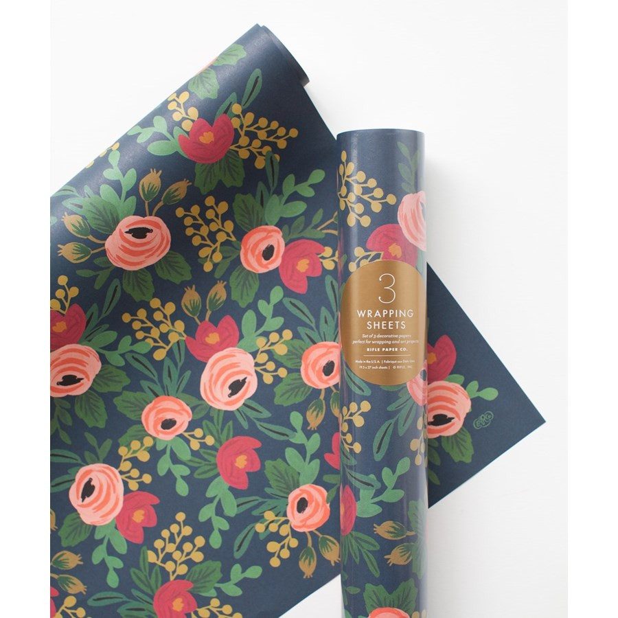 Roll of 3 Rosa Wrapping Sheets