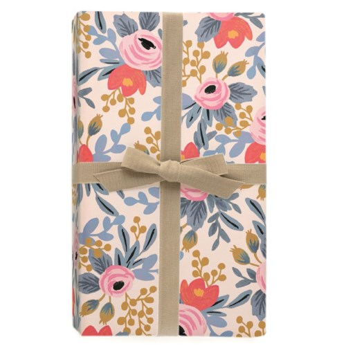 Single Blushing Rosa Wrapping Sheet (Flat)