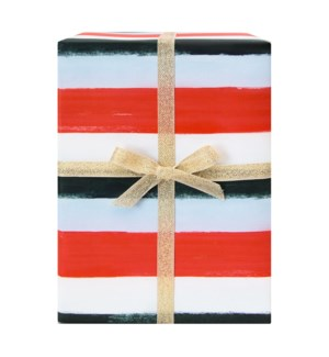 Holiday Stripes Gift Wrap Roll