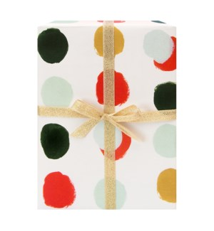 Dotted Holiday Gift Wrap Roll