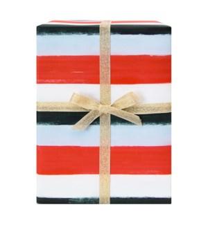 Holiday Stripes Gift Wrap Sheet