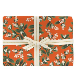 Roll of 3 Mistletoe Wrapping Sheets