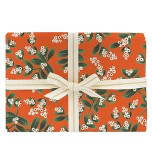 Single Mistletoe Wrapping Sheet (Flat)