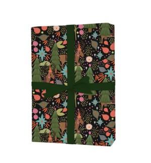 Single Feliz Navidad Wrapping Sheet (Flat)