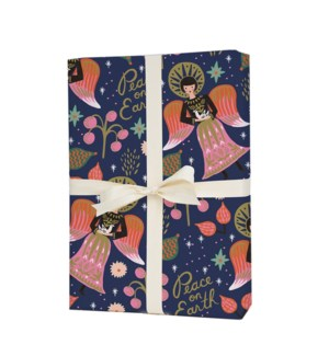 Roll of 3 Peace on Earth Wrapping Sheets
