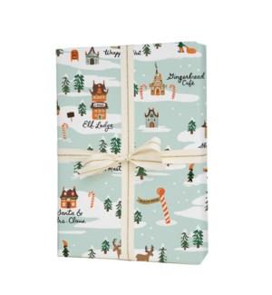 Single North Pole Wrapping Sheet (Flat)