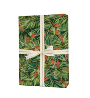 Roll of 3 Pine Wrapping Sheets