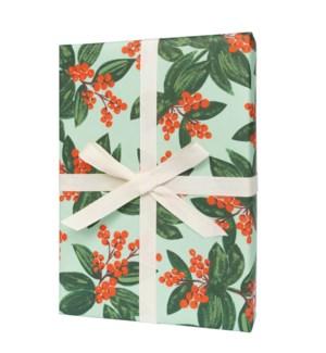 Single Winterberries Wrapping Sheet (Flat)