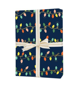 Roll of 3 Holiday Lights Wrapping Sheets