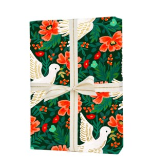 Roll of 3 Peace Dove Wrapping Sheets