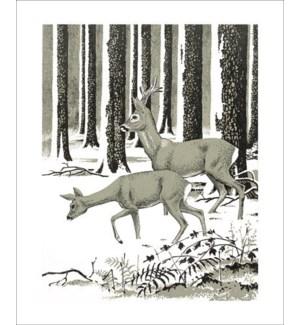 Roe Deer in Winter Art Angels