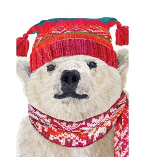 Polar Bear In Hat BOX 15 |Allport