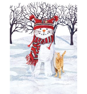 Cat Snowman BOX 15 |Allport