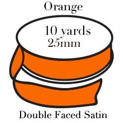 Orange Satin/10 yrd|Pohli