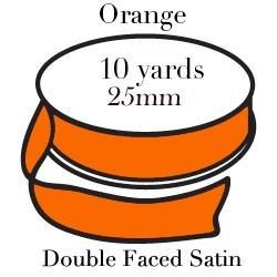 Orange Satin/10 yrd Pohli