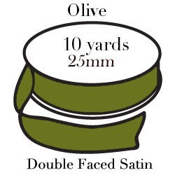RIBBON-Olive Green One Inch|Pohli