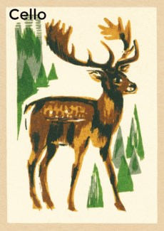 Monarch of the forest Cello pack of 5|Art Press