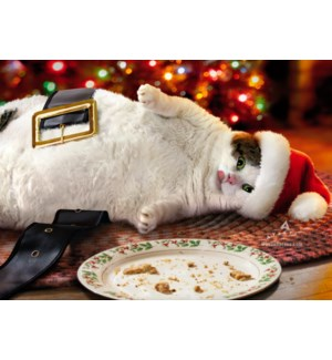 Santa Cat With Cookies|Z