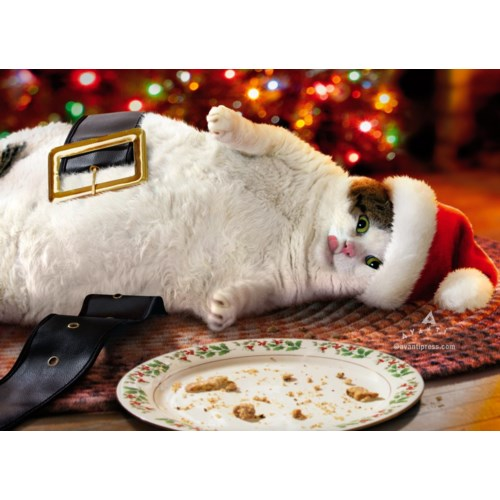 Santa Cat With Cookies Z