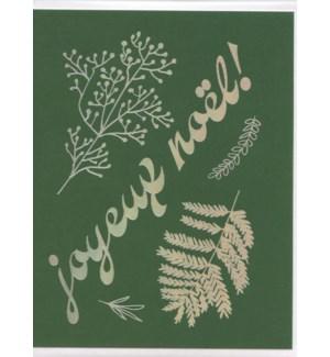 Joyeux Noel Foil Vert Bien A Vous