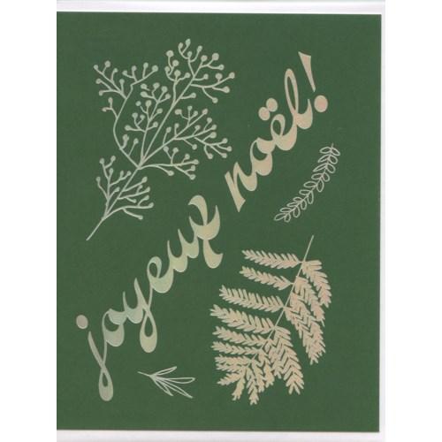 Joyeux Noel Foil Vert|Bien A Vous