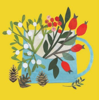 Festive Foliage In A Blue Jug CELLO 5 |Canns Down