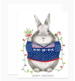Bunny Christmas Sweater 4.25x5.5 |Dear Hancock