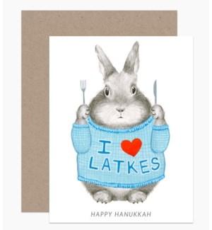I Heart Latkes 4.25x5.5 |Dear Hancock