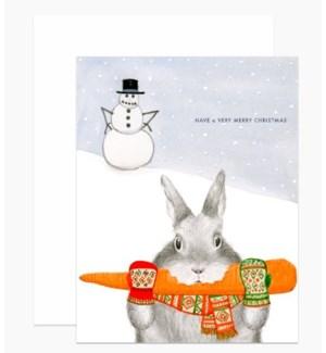 Bunny Eating Carrot 4.25x5.5 |Dear Hancock